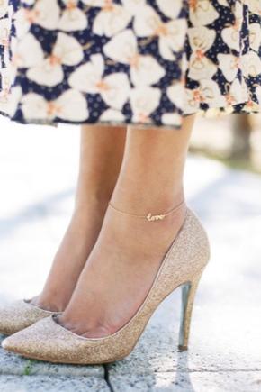 Браслет на ногу з золота