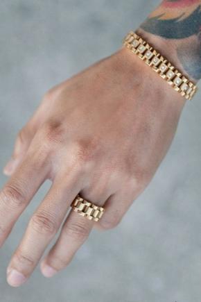 Золоті чоловічі браслети