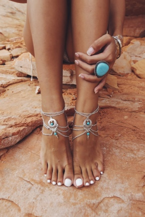 Браслет на ногу з срібла