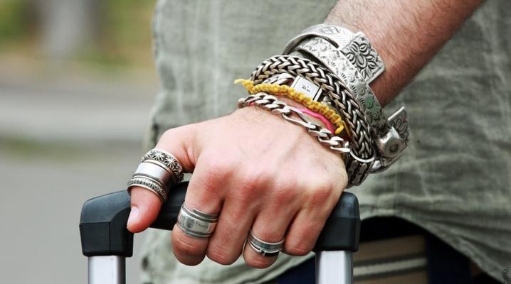 Срібний чоловічий браслет