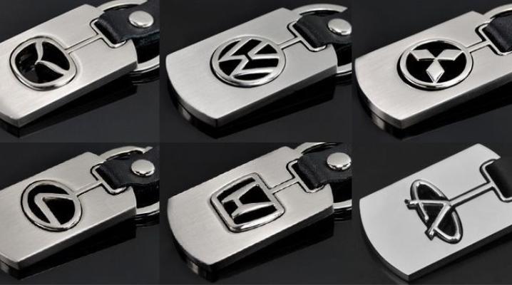 Брелок з логотипом для ключів від автомобіля