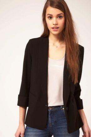 З чим носити чорний піджак жінкам?