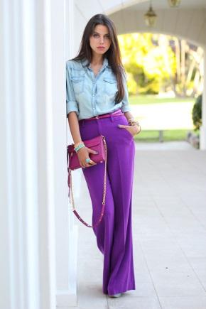 Які кольори в одязі поєднуються з фіолетовим?