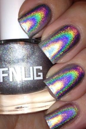 Голографічний захисний лак для нігтів