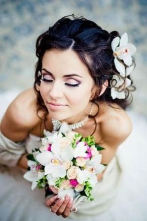 Весільний макіяж для брюнеток