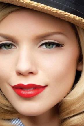 Особливості макіяжу з помадою різного кольору