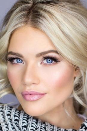 Макіяж для блакитних очей і світлого волосся