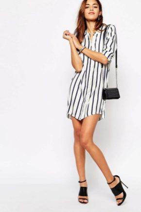 З чим носити смугасте плаття-сорочку?