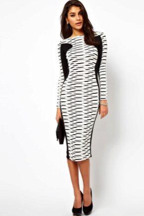 Чорно-біле плаття – модний тренд сезону