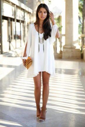 Красиве біле літнє плаття 2018