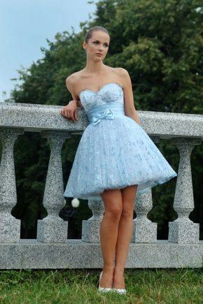 Синє вечірнє плаття