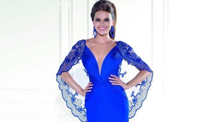 Вечірнє плаття синього кольору