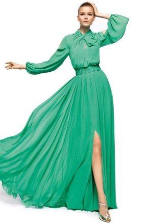 Вечірнє плаття зеленого кольору