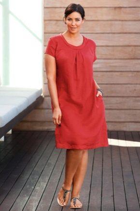 Лляні сукні та сарафани для повних жінок