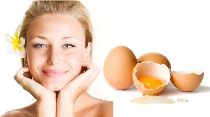 Маска для обличчя з яйця