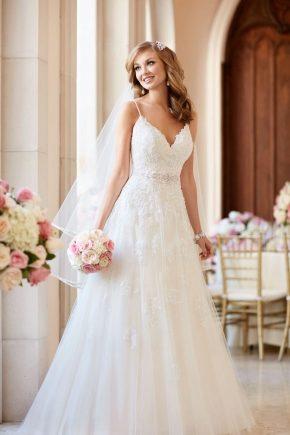 Біле весільне плаття 2018 – стильна класика