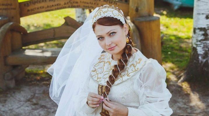 Весільні сукні в російській стилі