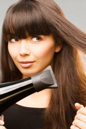 Як випрямити волосся феном?