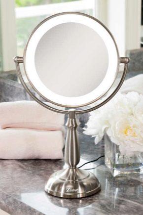 Настільне дзеркало з підсвічуванням: плюси і мінуси