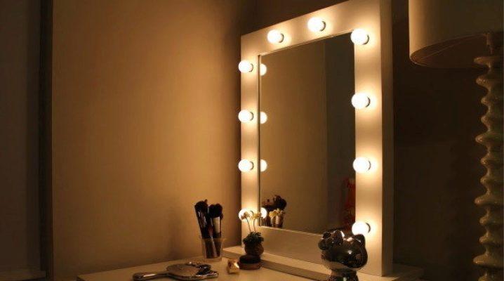 Дзеркало для макіяжу з підсвічуванням: як зробити самостійно