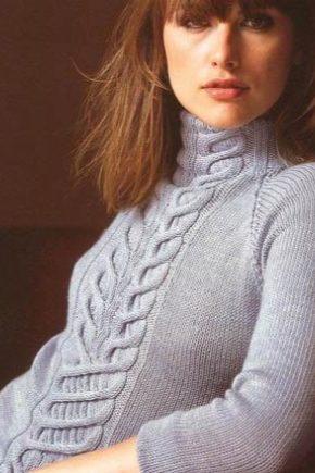 Пуловер з косами