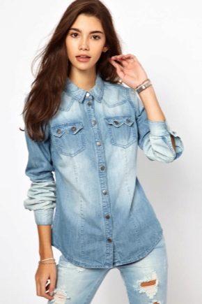 Жіноча джинсова сорочка 2018 року