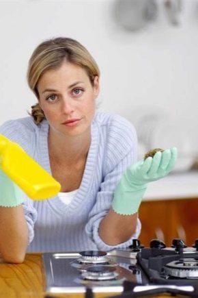 Як відмити газову плиту від жиру?