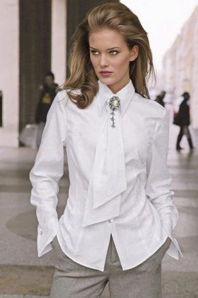 Жіноча біла сорочка 2018 року