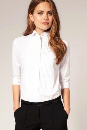 З чим носити жіночий білу сорочку (59 фото)