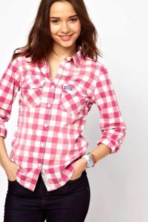 Модна жіноча сорочка в клітку 2018 року