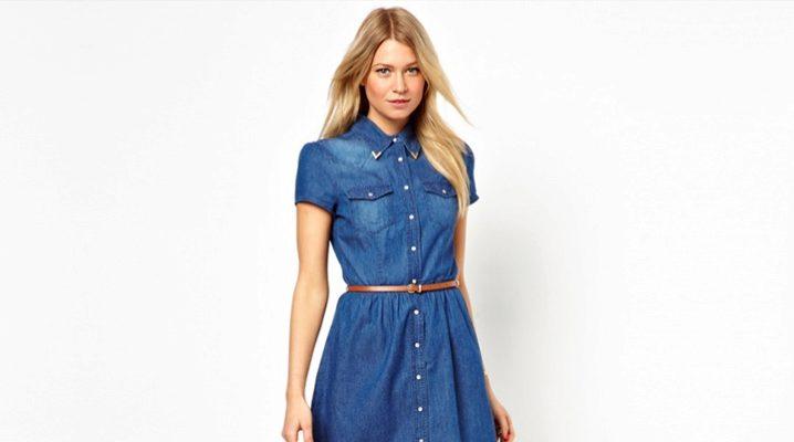 З чим носити джинсове плаття-сорочку?