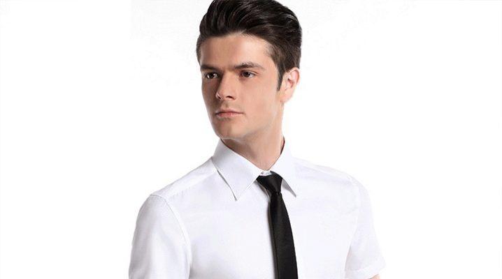 Сорочка з коротким рукавом і краватку