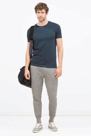 Модні чоловічі штани з гумкою внизу