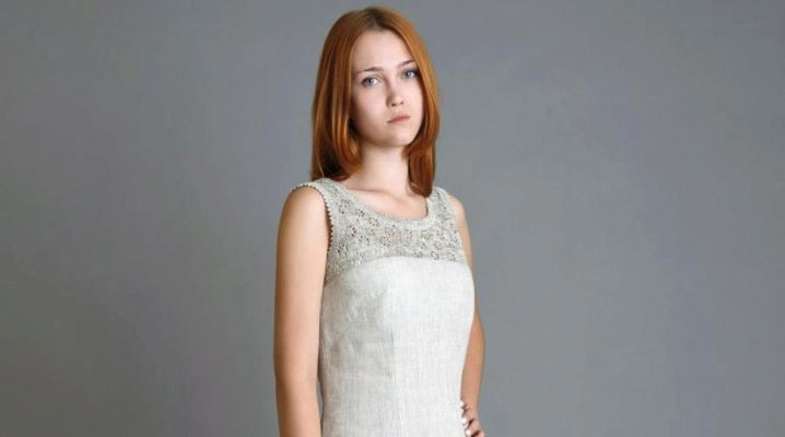 Сарафани та сукні з льону